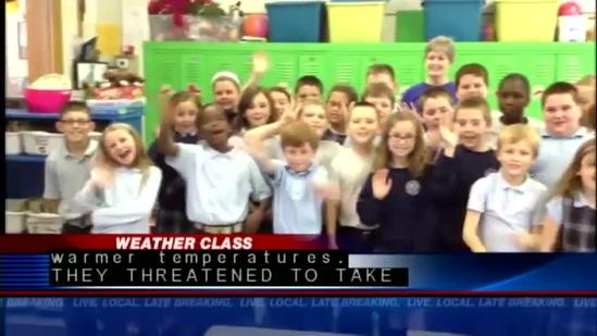 Weather class visits Holy Family School