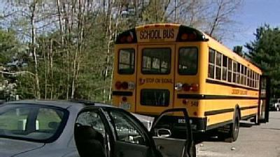 Students Uninjured In School Bus Crash