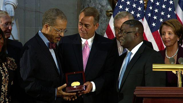 Families accept Congressional Gold Medals for 1963 bombing victims