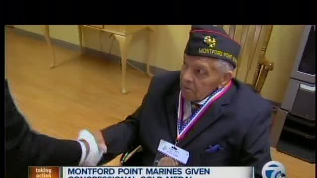 Montford Point Marines awarded congressional medal