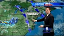 Showers possible today