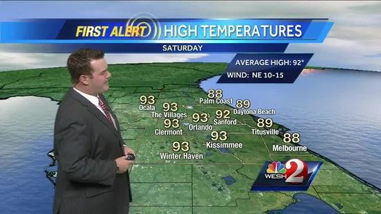 Expecting storms for your Saturday