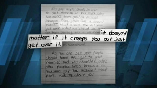 Kid's Gay Marriage Support in Class Essay Becomes Web Hit