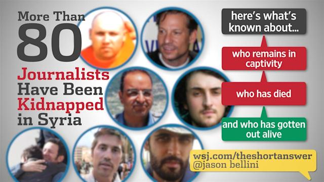 The Journalists in Syria Who've Been Captured