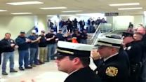 Hero's welcome for injured soldier