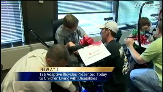 'My Bike' program donates bicycles to children with disabilities