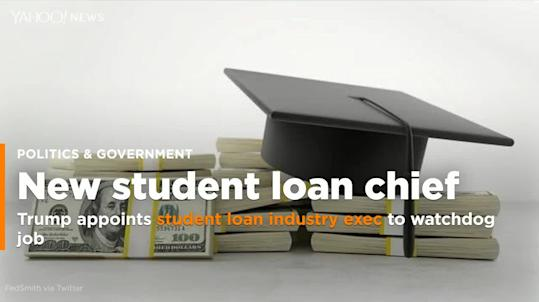 Watchdog Troubled By Restraint >> Trump Appoints Student Loan Industry Exec To Watchdog Job