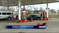 Police: Eyes found at gas station aren't human