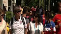Raw: US World Cup Fans Head to Salvador Stadium