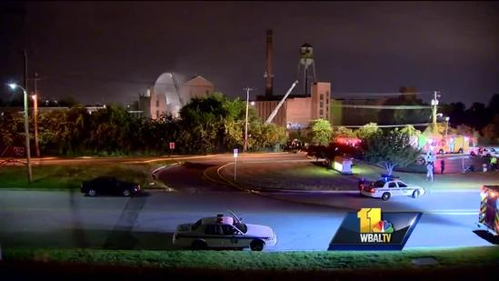 Man injured in 3-alarm fire at abandoned Seagrams plant