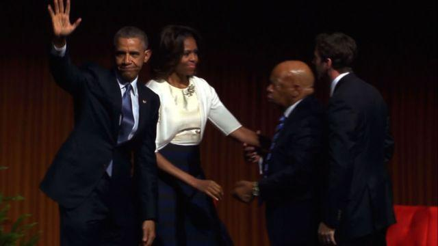 Obama delivers keynote address at Civil Rights Summit
