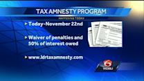 Tax amnesty program begins accepting applications