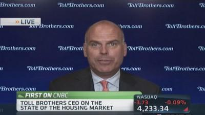 Toll Bros CEO: Confident in housing comeback