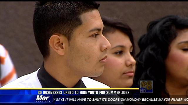 San Diego businesses urged to hire youth for summer