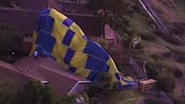 Wedding crash: Newlyweds plummet in hot air balloon
