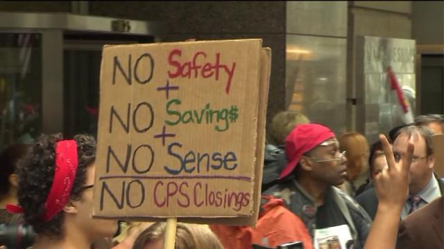 CBOE to vote on school closures while protesters surround headquarters