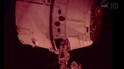 Raw Video: Dragon arrives at space station