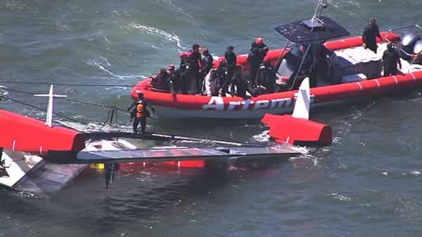 Sailors rescued after catamaran capsizes killing one