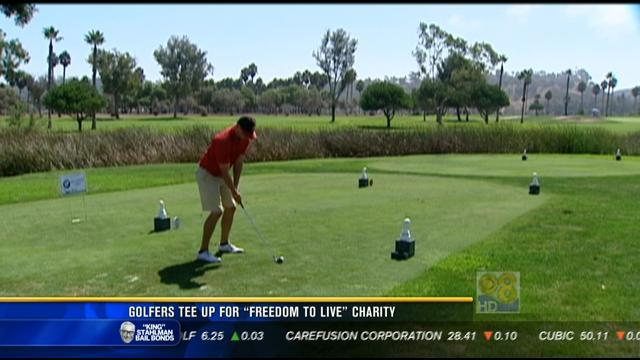 Golfers tee up for