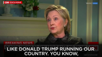 "Hillary Clinton calls Donald Trump a ""loose cannon."""