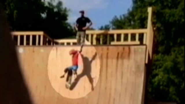 Dad Caught on Tape Kicking Son Down Skateboard Ramp