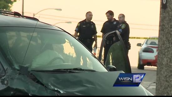 Four officers hurt in overnight crash