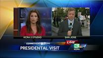President Obama visits Bay Area, San Jose Wal Mart