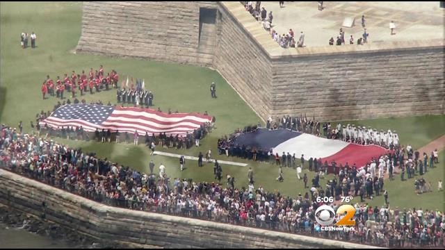 New York Veterans Honored On Liberty Island For D-Day