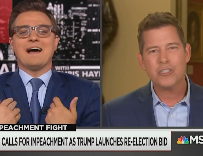 Congressman has heated exchange with Chris Hayes over calls for Trump  impeachment