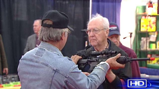 Exhibition floor of NRA convention is gun enthusiast's playground