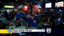 Warriors Fans Celebrate 1st Round Playoff Win At East Bay Sports Bar