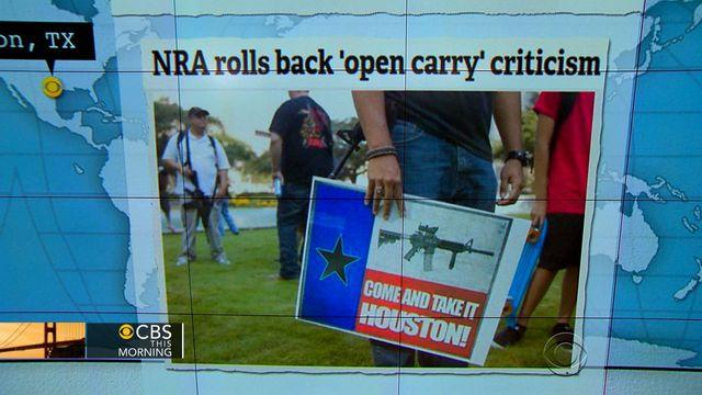 Headlines: NRA backs away from criticizing Texas gun rights group