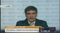 Goldman Sachs lower on revenue miss