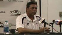 ULM Head Coach Todd Berry talks post game ULL