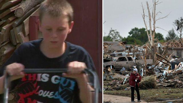 Boy mows lawns, raises $16K for Oklahoma tornado victims