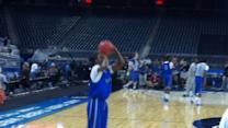 Raw Video: Wildcats Practice For Final Four