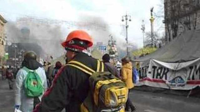 Kiev Protesters Dig in at Indepedence Square Protest Camp