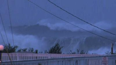 Raw: Big Waves Pound Jersey Shore