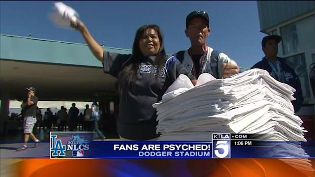 Dodger Fans Ready for Game 5 of NLCS