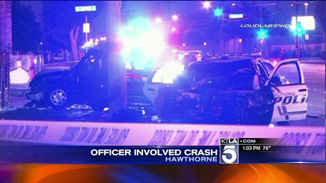 2 Hurt in Hawthorne Crash Involving Police Cruiser