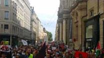 Demonstrators March in Support of Gaza in Lyon