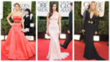 Red, Nude, and Black Gowns Dominate the Golden Globes Red Carpet