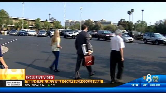 Teen girl in juvenile court for Cocos Fire