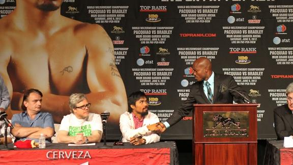 Bradley-Pacquiao last press conference prior to mega-fight.