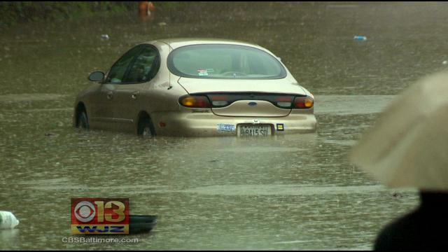 Heavy Rain And High Winds Causing Trouble In Maryland