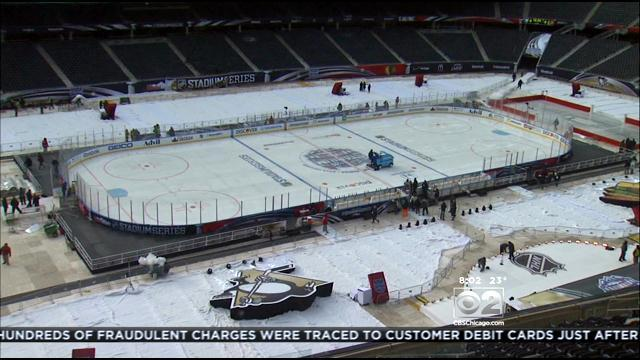 Soldier Field Prepped For Hawks Game