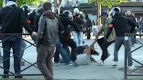 Protesters clash with police at Paris May Day marches