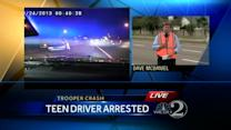 FHP: 18-year-old hits trooper, takes off