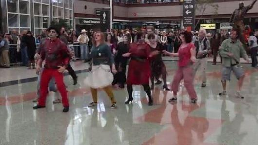 Zombie Flashmob Takes Over Denver International Airport