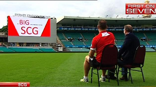 Swans unveil new SCG video screen